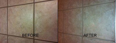 tile & grout color sealing